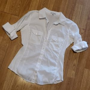 Standard James Perse white button front shirt